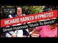 Street Hypnosis Lion funny instant induction stuck to bench