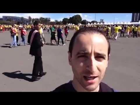 Nicolas depuis le stade de Brasilia #5