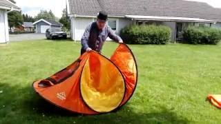 Hur du viker ihop ett Pop up tält