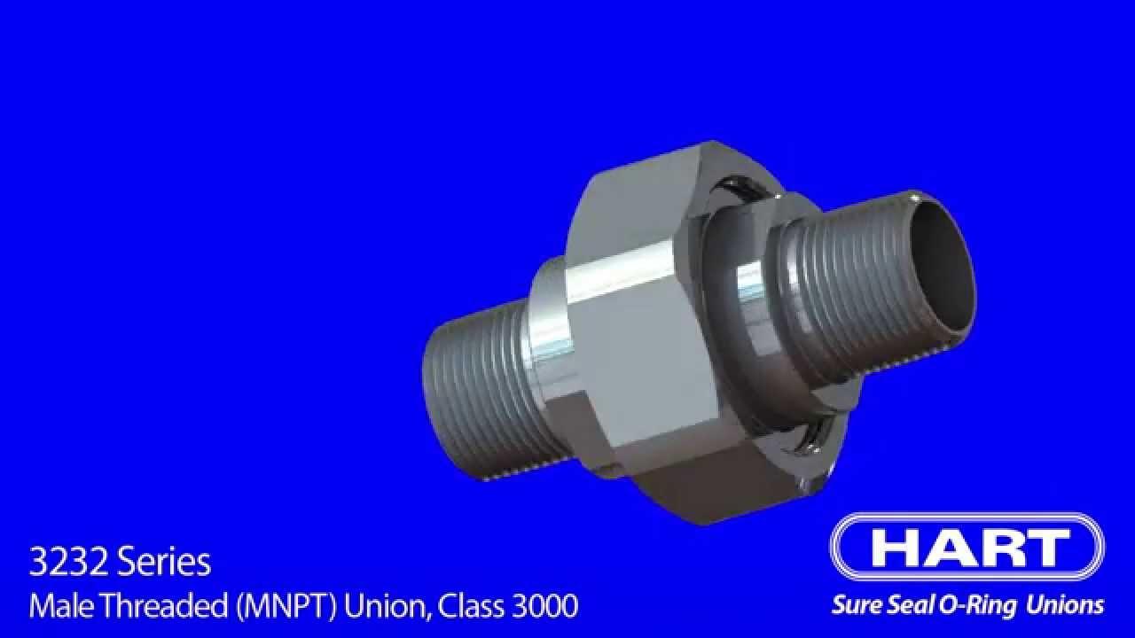 Hart 3232 Series - Male Threaded  Mnpt  Union