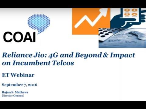 ETTelecom Webinar - Reliance Jio: 4G and Beyond & Impact on Incumbent Telcos