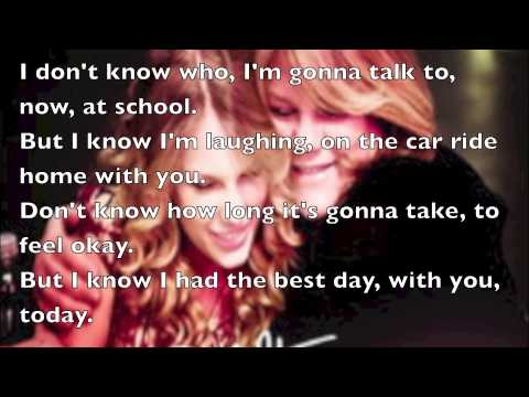 The Best Day By Taylor Swift Lyrics