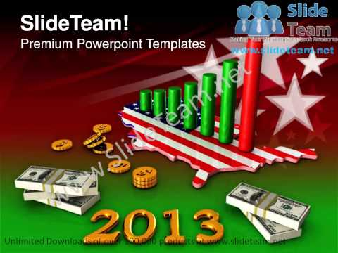 Business Graph Dollars Profits Americana PowerPoint Templates PPT Background  1112 Slides Backgrounds
