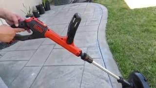 Black + Decker LSTE525 20V Cordless Trimmer/Edger Video Review
