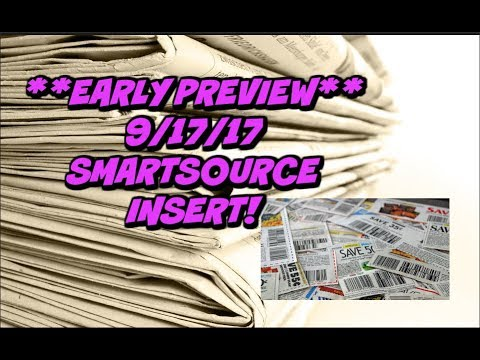 **EARLY PREVIEW**  9/17/17 COUPON INSERT - SOME GOOD COUPONS!