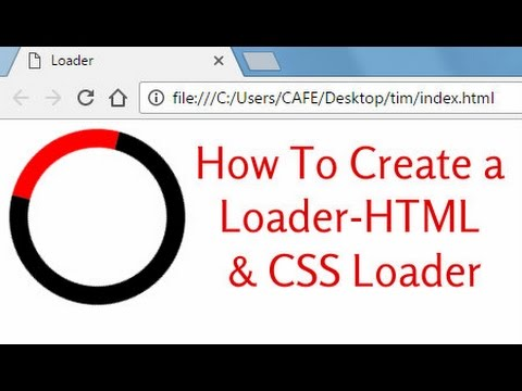 How To Create A Loader-HTML & CSS  Loader