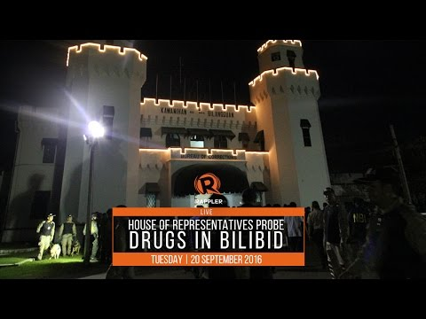 WATCH: House of Representatives probe on drug use in Bilibid, 20 September 2016