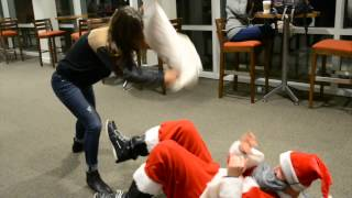 Pillow Fights With Santa- LU Christmas Coffeehouse 2014