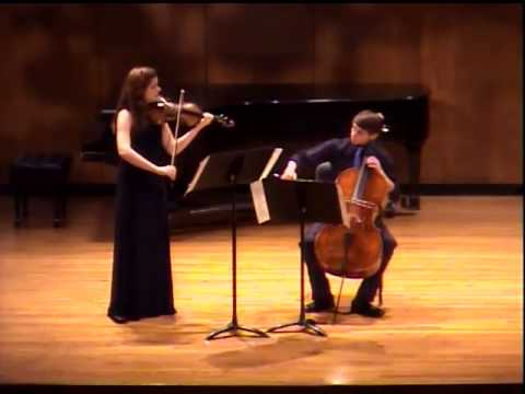 Chloe Harvel- Handel-Halvorsen Passacaglia- Blair School of Music Pre-college chamber recital