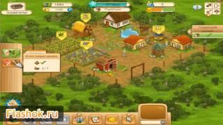Онлайн игра BigFarm  Видео обзор флеш игры Большая Ферма