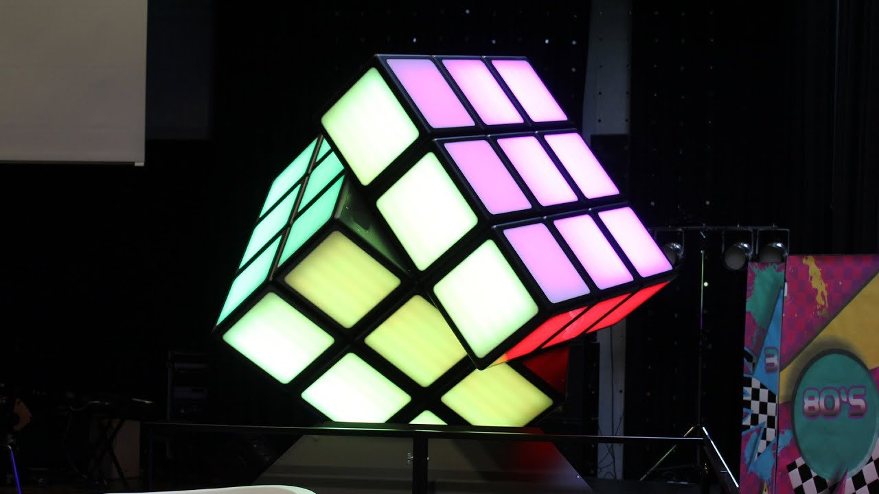building a x large illuminated rubik 39 s cube with dmx youtube. Black Bedroom Furniture Sets. Home Design Ideas
