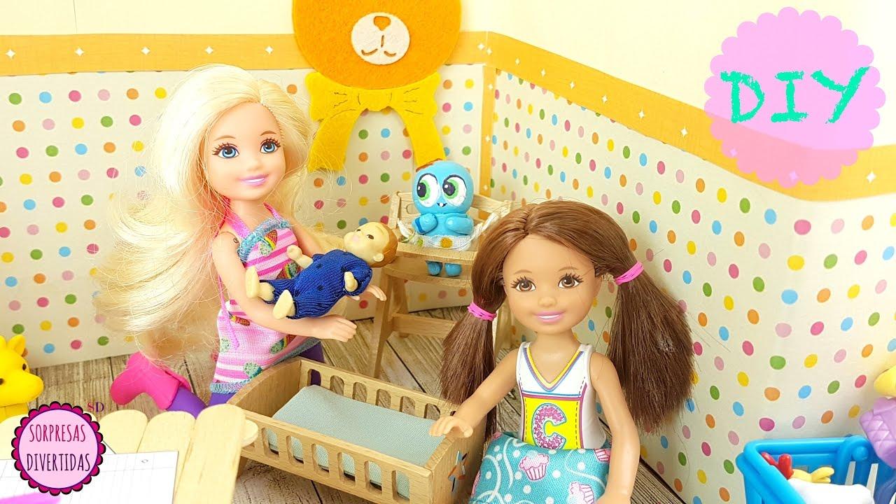 De Manualidades Los Habitación Para La Muñecas Barbie I Juguetes Chelsea 9D2YIeWHE