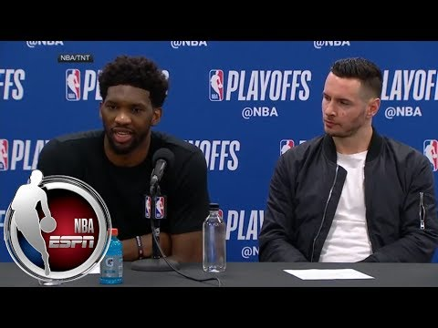 [FULL] Joel Embiid on closing out series in front of Meek Mill: 'I was just happy' | NBA on ESPN