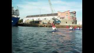 Kayaking Through Galway Docks