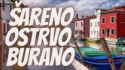 Prelepo Šareno Ostrvo Burano Blizu Venecije