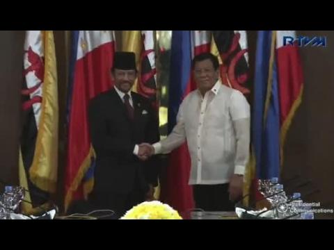 Bolkiah visits Duterte at Malacañang