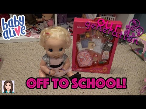 Baby Alive Delilah Opens Our Generation Off To School Set!