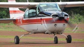 Pouso Cessna 210 Sitio Flyer