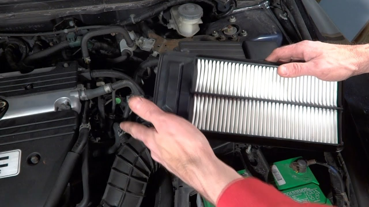 how to change air filter on 2003 2007 honda accord youtube. Black Bedroom Furniture Sets. Home Design Ideas