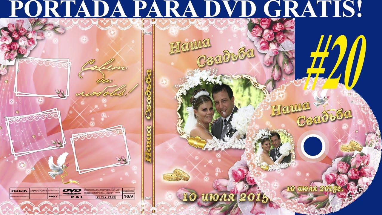 Plantillas psd para portada y etiqueta DVD color ROSADO con FLORAL ...