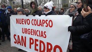Concentración por colapso de Urgencias en Logroño