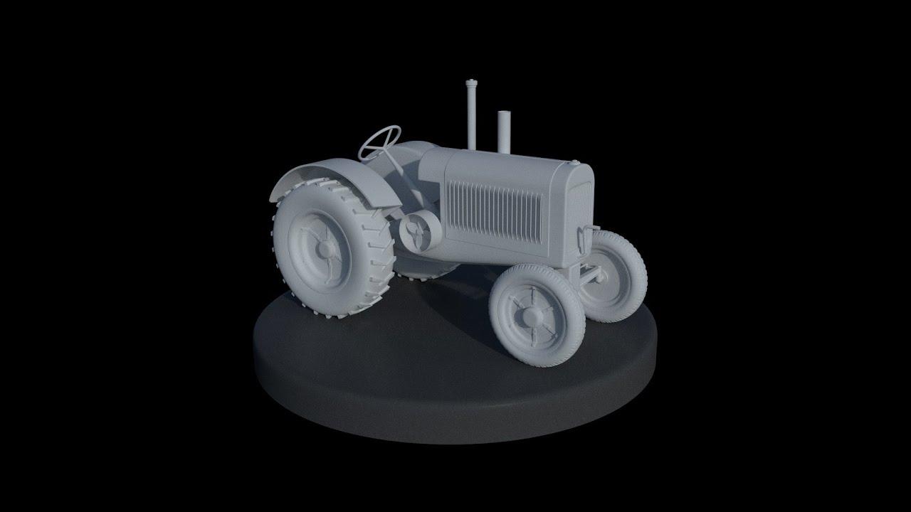 Blender Character Modeling Timelapse : Blender d old tractor modeling timelapse youtube