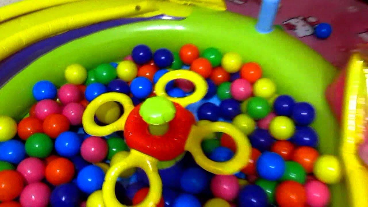 Огромный бассейн с горкой LITTLE TIKES с шариками Много шариков с .