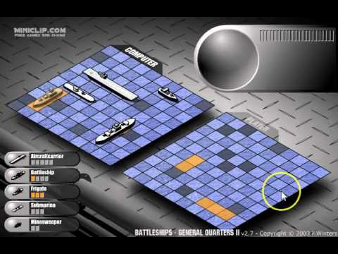 Battleship Sample Game using Strategies - YouTube - sample battleship game