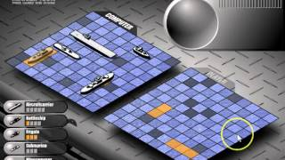 Battleship: Sample Game using Strategies