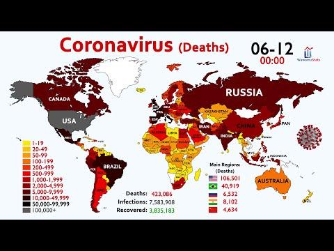 Coronavirus (COVID-19) Kematian: Timelapse World Map Sejak Januari