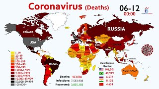 Coronavirus (COVID-19) Deaths: World Map Timelapse since January