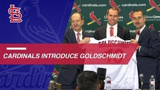 Cardinals introduce newly acquired Paul Goldschmidt