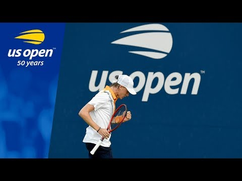 Denis Shapovalov And Andreas Seppi Battle at the 2018 US Open