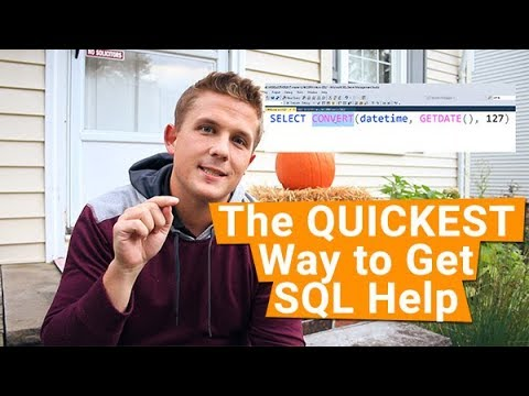 The QUICKEST Way to Get SQL Command Help