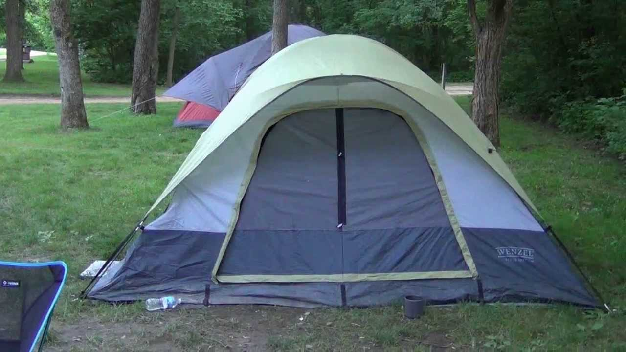 & Wenzel Tent Rain Review - YouTube