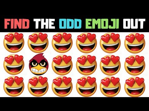 Find The Odd Emoji Out | Spot The Difference Emoji Vol#18 | Emoji Puzzle Quiz | Find the difference