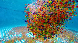 1 Million Orbeez Dropping Into and Out of a Swimming Pool