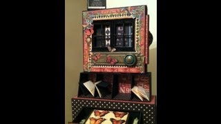 Curio Cabinet Altered Matchbook Box And Folio Album