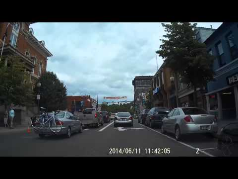 Court Street, Athens, OH Ohio University Dash Camera View