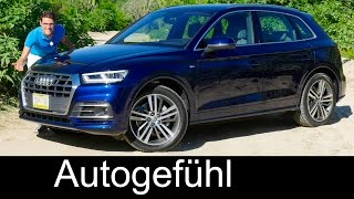 Audi Q5 FULL REVIEW test driven S-Line onroad/offroad 2.0 TFSI 3.0 TDI all-new neu 2017/2018