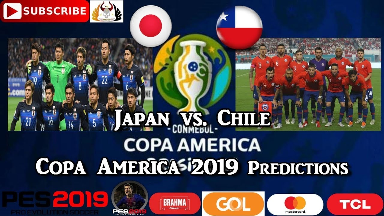 Japan vs  Chile | Copa America Brasil 2019 | Group C Predictions PES 2019