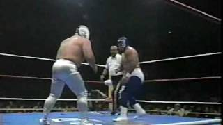 Super Astro vs. Blue Panther 1/4