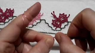 Kelebekli havlu kenarı 1