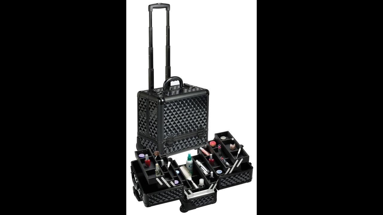 Misty Minute: Black Diamond Rolling Makeup Train Case