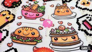 How To Draw Food  - cake, flan, salad and vegetable sandwich - Easy and Kawaii Drawings by Garbi KW