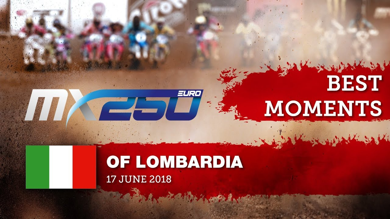 EMX250 Race1 best moments   Round of Lombardia 2018 #motocross