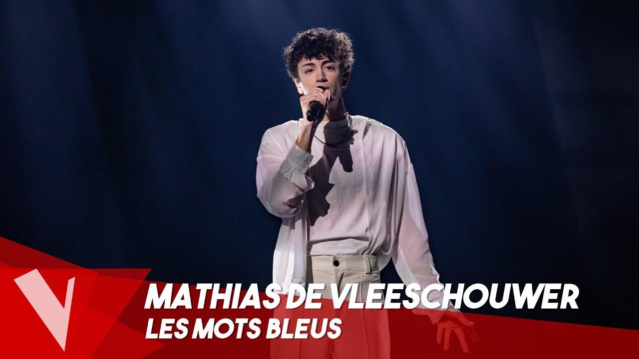 Download Christophe - 'Les mots bleus' ● Mathias De Vleeschouwer| Lives | The Voice Belgique Saison 9