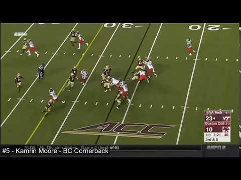 VA Tech, good coverage, recognizes run, gets off block and makes the tackle