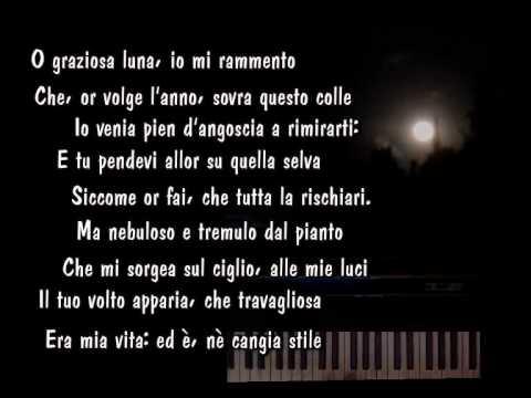 Poesia Alla Luna Di Giacomo Leopardi Youtube
