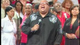 "Monica Allen and Fred Hammond singing ""God IS"""